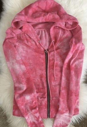 100% Fashion Sweter z kapturem magenta