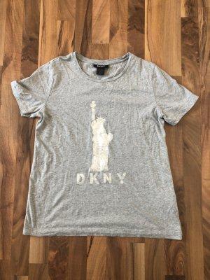Tolles T-Shirt von DKNY im New York Design in grau Größe M/L!