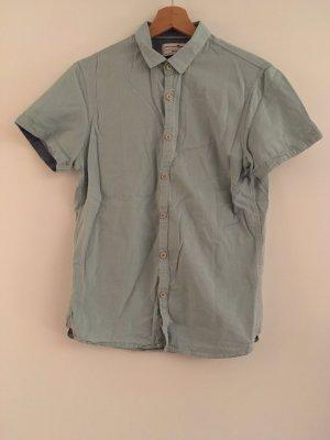 Tom Tailor Denim Camicia a maniche corte verde-grigio