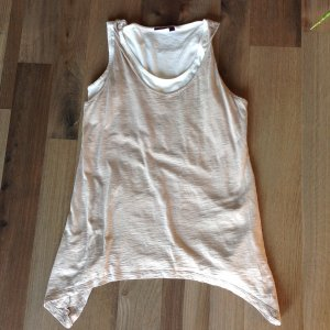 Mexx Top long blanc-chameau coton