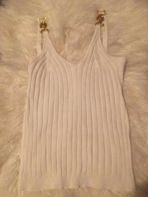 100% Fashion Débardeur à bretelles blanc