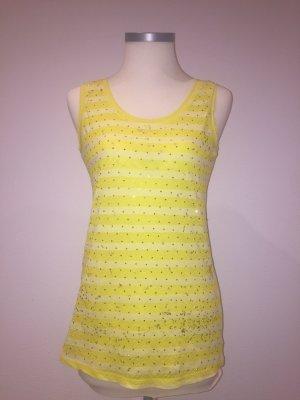 Bluoltre Top na ramiączkach jasnożółty-żółty