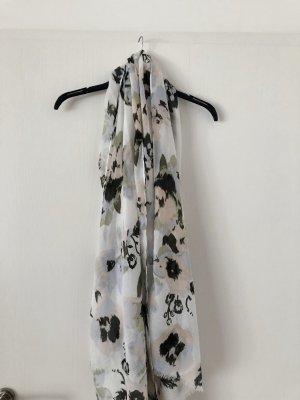 Tolles Tuch ca 190 vom x 90 cm in den Farben weiß, apricot und khaki
