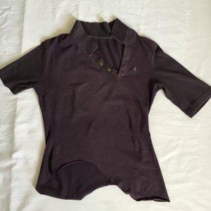 Vivienne Westwood Camiseta tipo polo marrón oscuro-púrpura Algodón