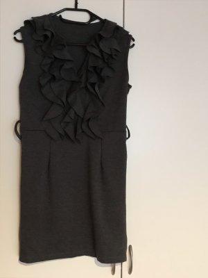 Made in Italy Vestido estilo flounce gris antracita
