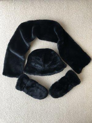 H&M Cravatta casual nero Pelliccia ecologica