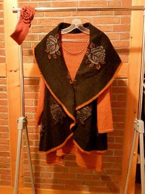 D made in Italy Smanicato lavorato a maglia multicolore Lana