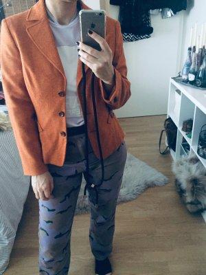 Biba Blazer en laine orange-orange foncé