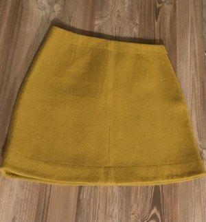 COS Wollen rok zandig bruin-geel