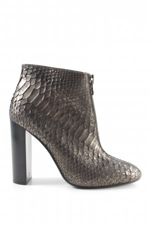 Tom Ford Ankle Boots braun-goldfarben Allover-Druck Business-Look