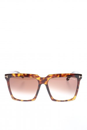 Tom Ford Gafas de sol cuadradas marrón-naranja claro look casual