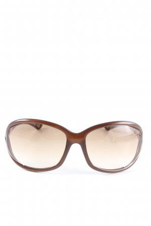 Tom Ford Lunettes carées brun style décontracté