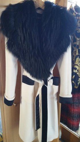 Tom Ford Winter Coat white-black viscose