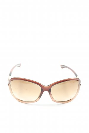 Tom Ford ovale Sonnenbrille braun Casual-Look