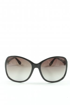 Tom Ford Oval Sunglasses black themed print casual look