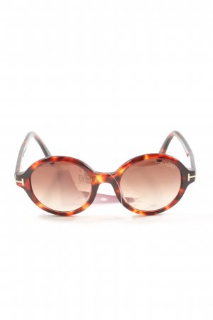 Tom Ford ovale Sonnenbrille braun-hellorange Casual-Look