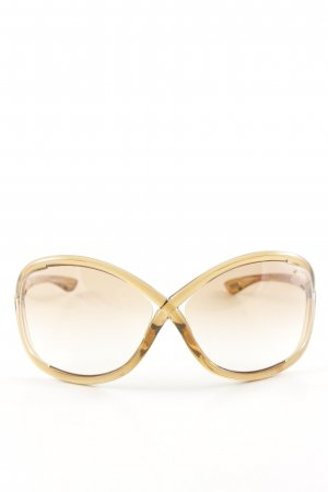 Tom Ford Oval Sunglasses gold-colored casual look