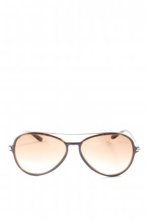 Tom Ford Gafas de piloto marrón degradado de color look casual