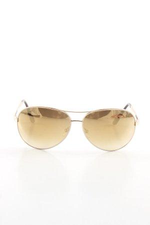 Tom Ford Pilot Brille goldfarben-braun Casual-Look