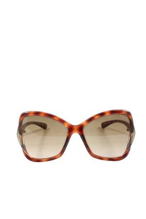 Tom Ford Gafas Retro marrón-naranja claro look casual