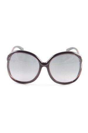 Tom Ford Occhiale da sole rotondo nero-rosso scuro