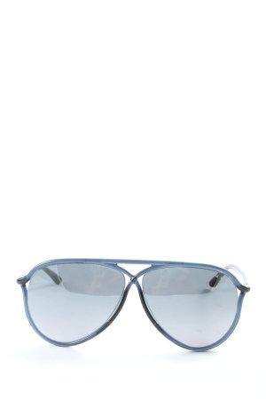Tom Ford Gafas de sol redondas azul look casual