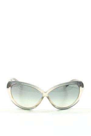 Tom Ford Gafas de sol redondas gris claro look casual