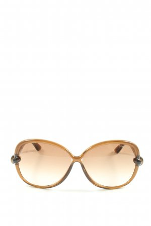 Tom Ford runde Sonnenbrille braun Casual-Look