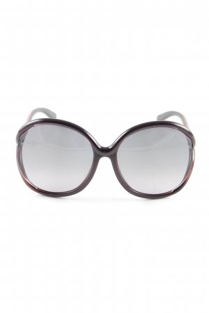 Tom Ford Ronde zonnebril zwart-rood casual uitstraling