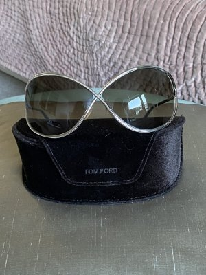Tom Ford Gafas mariposa color plata metal