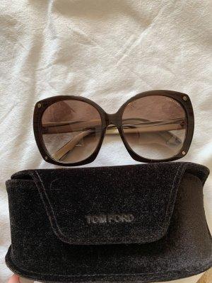 Tom Ford Gafas de sol ovaladas coñac-crema