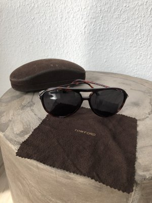Tom Ford Aviator Glasses dark brown
