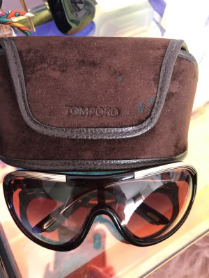 Tom Ford Sonnenbrille unisex dunkelbraun Goldrahmen