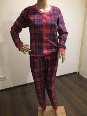 Tom Franks Onesie Einteiler Overall Kuschelanzug Schlafanzug Gr 38 M Neu Pink und Lila