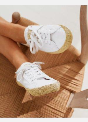 Tom Joule * Coast Sommer Canvas-Sneaker mit Jute-Besatz - Weiß