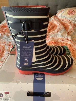 Joules Gumowe buty niebieski