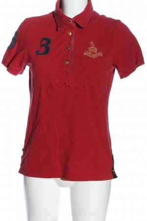 Tom Joule Polo Shirt themed print casual look