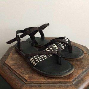 Toms Sandale d'extérieur noir-blanc