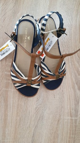 Tom Tailor T-Strap Sandals white-dark blue