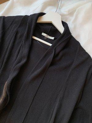 Tom Tailor Gilet long tricoté noir