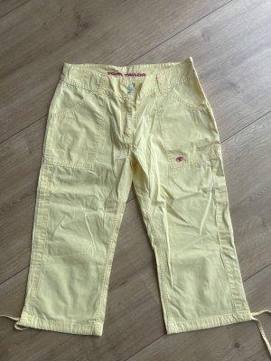 Tom Tailor Spodnie 3/4 jasnożółty