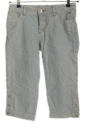Tom Tailor Jeansy 3/4 niebieski-biały Na całej powierzchni W stylu casual