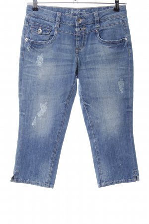 Tom Tailor 3/4-jeans blauw casual uitstraling