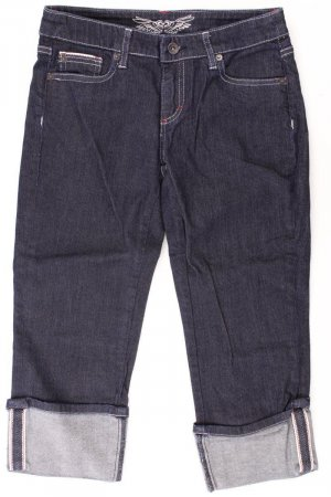 Tom Tailor 3/4 Length Jeans blue-neon blue-dark blue-azure cotton