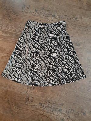 Tom Tailor Spódnica ze stretchu czarny-jasnobeżowy