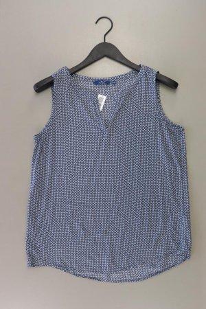 Tom Tailor Ärmellose Bluse Größe 40 blau aus Viskose