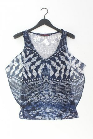 Tom Tailor Ärmellose Bluse Größe M blau aus Viskose