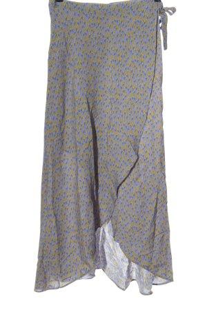 Tom Tailor Jupe asymétrique bleu-jaune primevère imprimé allover