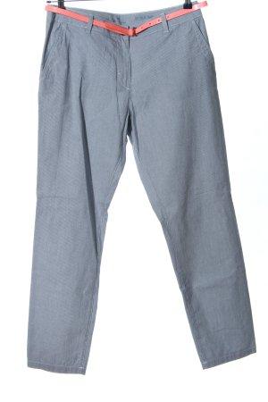 Tom Tailor Luźne spodnie niebieski Wzór w paski W stylu casual