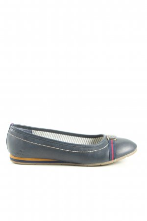 Tom Tailor Ballerinas mit Spitze blau Casual-Look